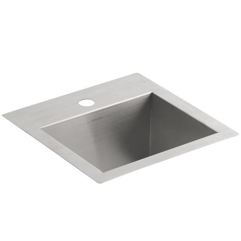Small Sinks Kitchen Kohler Vault 3840 1 Na Small Stainless Steel Kitchen Sink