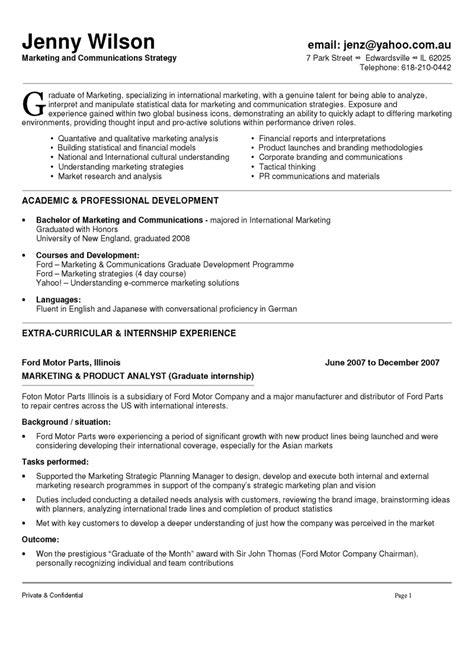 marketing specialist resume sle communication section on resume 28 images resume
