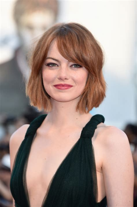 wob hair emma stone the wob wavy lob is the hot new hollywood