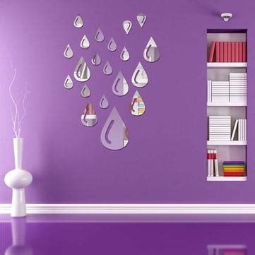 Mirror Stickers Bathroom 21pcs Water Raindrop Silver Mirror Wall Stickers Bathroom Home Wall Decor At Banggood Sold Out