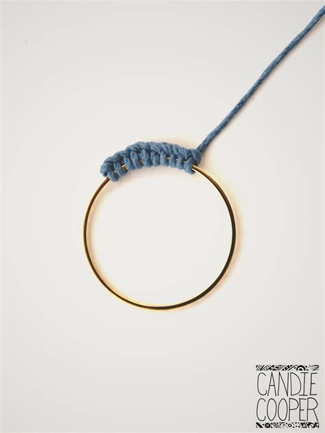 macrame ring macrame around a ring to make your own components candie