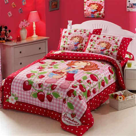 strawberry shortcake bedroom set kids bed strawberry shortcake bedding set cartoon beding