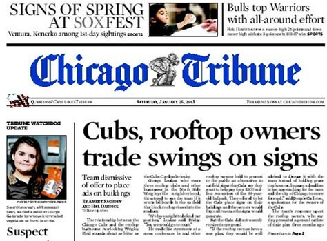 chicago tribune food section front page business chicago style tribunedigital