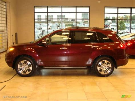 2008 cherry pearl acura mdx technology 19709112 gtcarlot car color galleries