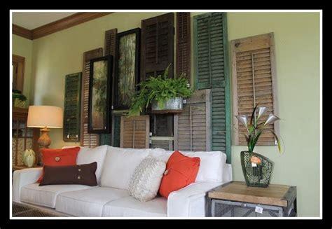 wall shutter decor shutter wall collage breedlove decor inspirationess