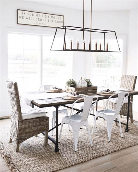 farmhouse dining lighting the 25 best dining room lighting ideas on pinterest