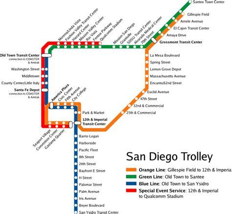 san diego trolley map file san diego trolley map png