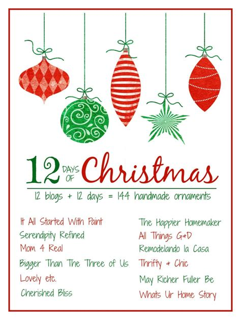 how to make 12 days of christmas ornaments 12 days of ornaments cinnamon and more 4 real