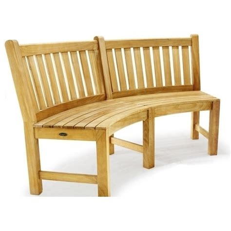 curved teak garden bench outdoor teak curved wooden garden bench chair 132cm buy