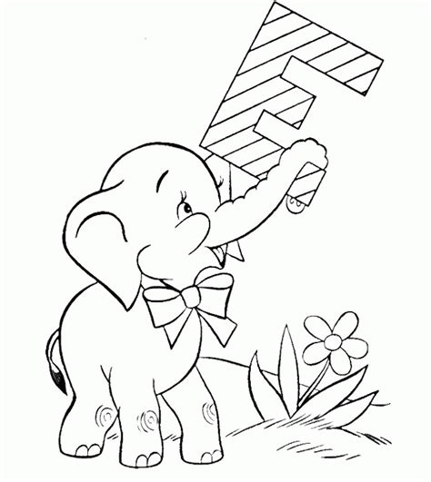 cute elephant coloring page printable e for baby elephant coloring pages activity