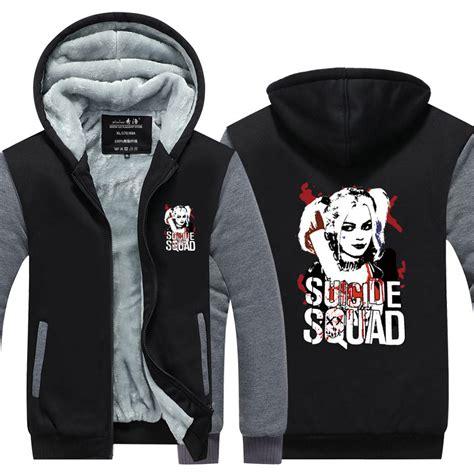 Sweater Squad Joker squad harley quinn joker hoodies coat hoodie winter fleece thicken jacket