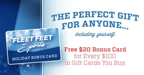 Fleet Feet Gift Card - gift cards the perfect holiday gift idea for the runners who has everything