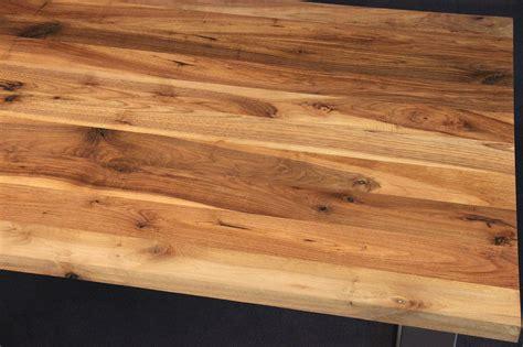 arbeitsplatten holz tischplatte massivholz kaukasischer nussbaum rustikal mit