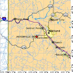 ashland oregon zip code map jacksonville oregon or population data races