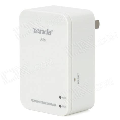 Tenda Portable tenda a5s portable 2 4ghz 802 11b g n wireless router w 2 pin white ac 100 240v
