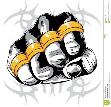brass knuckle fist stock photo image 23095640