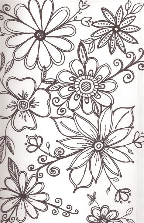Flower Pattern To Draw | art enables us to find ourselves and lose ourselves at