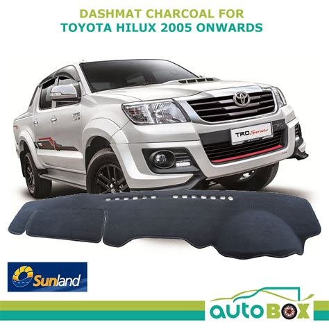 Hilux Dash Mat by Toyota Hilux March 05 Aug 15 All Models Charcoal Dashmat