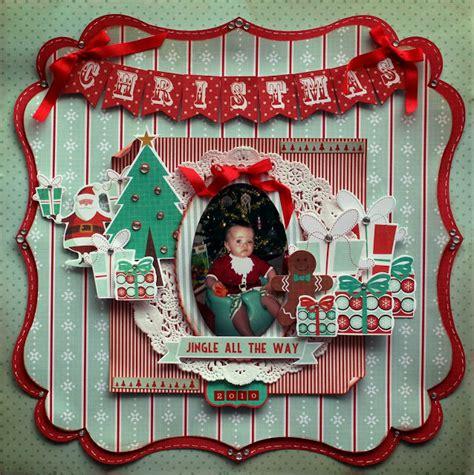 christmas layout design inspiration delightfully crazy christmas 2010 gingerbread kaisercraft