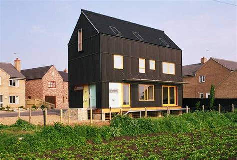 the house is black black house prickwillow property cambridge e architect