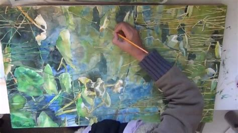 watercolor lake tutorial how to paint lilypads with watercolor one mile lake