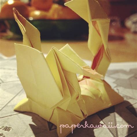 Pikachu Origami Advanced - origami pikachu tutorial advanced paper kawaii