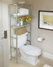 Bathroom space savers over toilet storage shelf