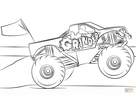 grave digger monster truck coloring pages grave digger coloring pages to print coloring pages