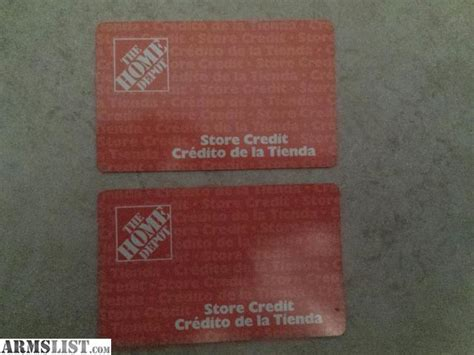 armslist for sale home depot gift cards store credit