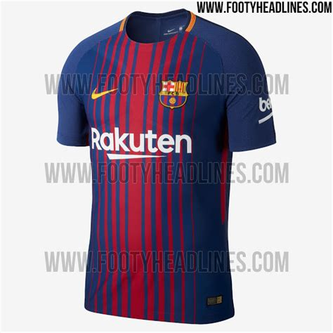 barcelona home kit barcelona 17 18 home kit released footy headlines