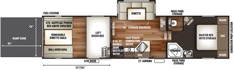 toy hauler travel trailer floor plans cherokee wolf pack toy hauler trailer floor plans