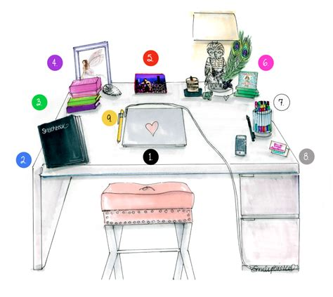 desk zen illustration by emily brickel my
