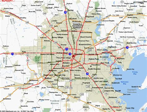 houston texas road map map of houston tx
