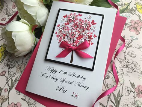 Handcrafted Birthday Cards - luxury birthday cards handmade cardspink posh