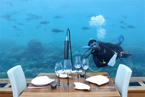 ithaa undersea restaurant world s all glass undersea restaurant