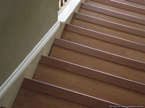 laminate on stairs with bad installation this is not the way you want your stairs to look after