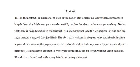 Apa Paper Headings Sample