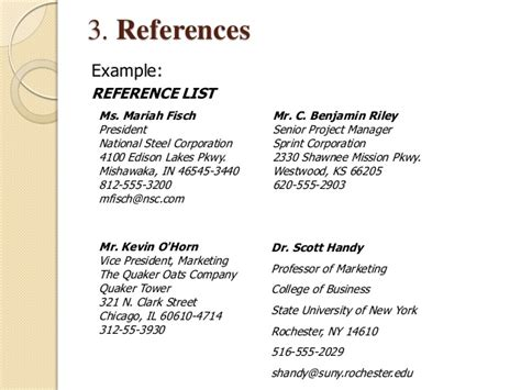 how to write reference list f resume