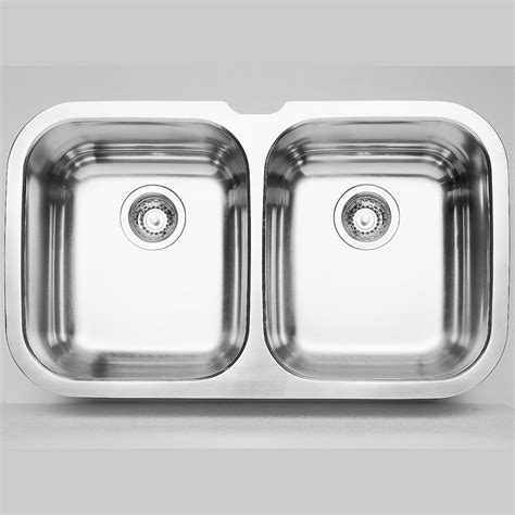 Home Depot Kitchen Sinks Stainless Steel Blanco 2 Bowl Undermount Stainless Steel Kitchen Sink The Home Depot Canada