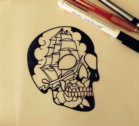 american traditional skull tattoos b54bd7ad4be8b6c92df4d9804475afbc jpg 640 215 584 trad