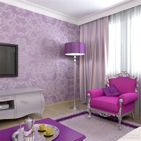 fantastic purple living room about remodel home design