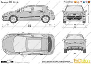 Peugeot 308 Dimensions The Blueprints Vector Drawing Peugeot 308