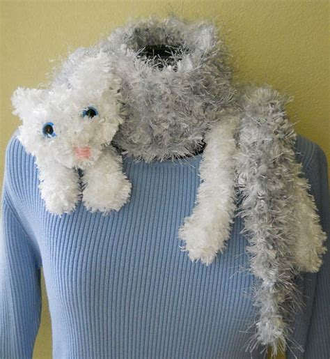 knitting pattern cat snuggle cat scarf digital knitting pattern