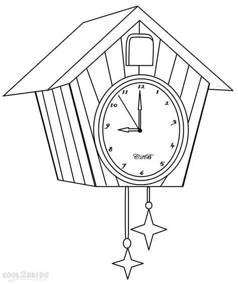 printable clock coloring pages for kids cool2bkids