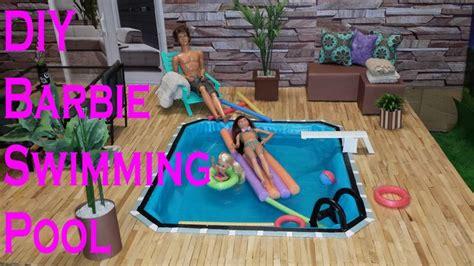 diy barbie swimming pool barbie house pinterest