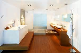 Wood Floor In Bathroom by 26 Master Bathrooms With Wood Floors Pictures