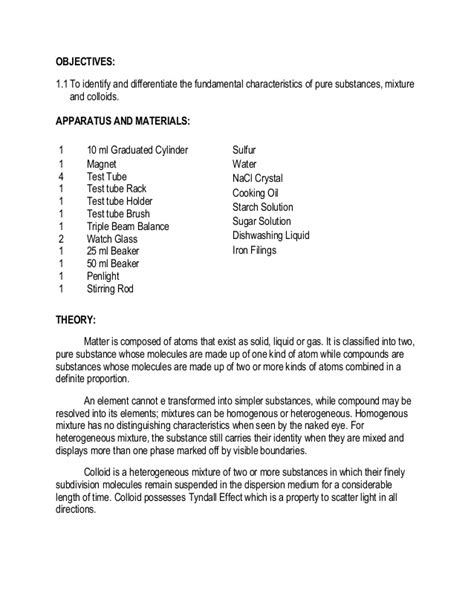Solutions Colloids And Suspensions Worksheet by 4 Elements Compounds Mixtures And Colloids