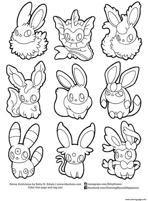 coloring book option printing print eevee evolutions list coloring pages