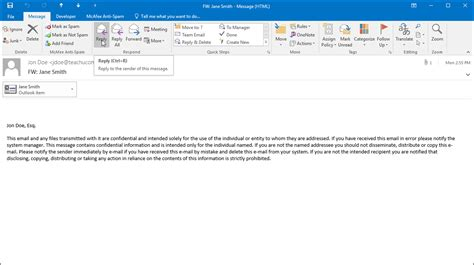 email xxi reply to an email in outlook instructions teachucomp inc