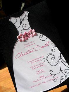 125 best wedding invitations from dressy designs images on flowered bridal shower dress invitation bridal dress die